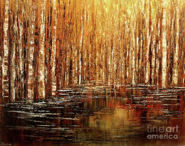 Ancient Woodland Painting - Exploration Of Ohio by Tatiana Iliina
