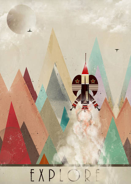 Rockets Wall Art - Painting - Explore by Bri Buckley