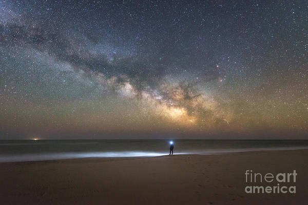 Photograph - Explore The Shore - Midnight Explorer Series by Michael Ver Sprill