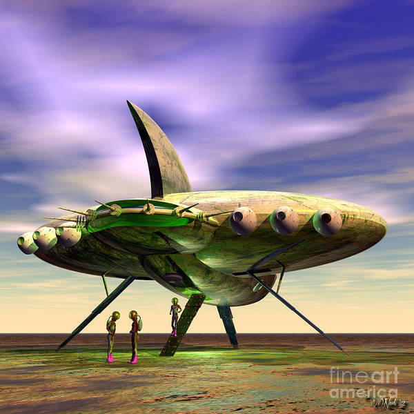 Digital Art - Explorers From Another World 1 by Walter Neal