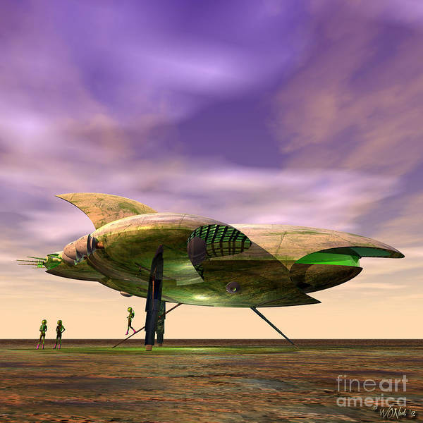 Digital Art - Explorers From Another World 3 by Walter Neal
