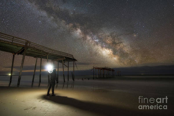 Wall Art - Photograph - Exploring Frisco Pier At Night  by Michael Ver Sprill