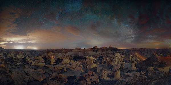 Digital Art - Exploring The Bisti Badlands Of New Mexico by OLena Art - Lena Owens