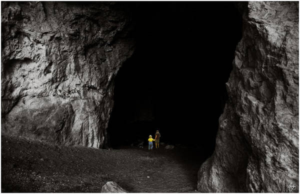 Photograph - Exploring The Cave by Wayne King