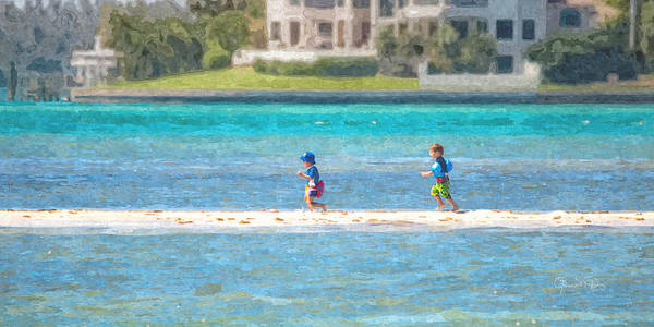 Photograph - Exploring The Sandbar by Susan Molnar