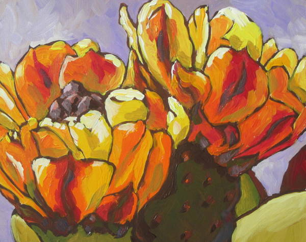 Prickly Pear Wall Art - Painting - Explosion Of Color by Sandy Tracey