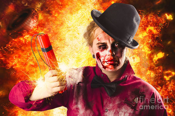 Photograph - Explosive Terror. The Wraith Of Hell Fire by Jorgo Photography - Wall Art Gallery