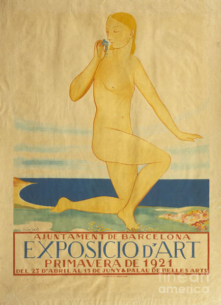 Primavera Painting - Exposicio D'art. Primavera De 1921 by MotionAge Designs