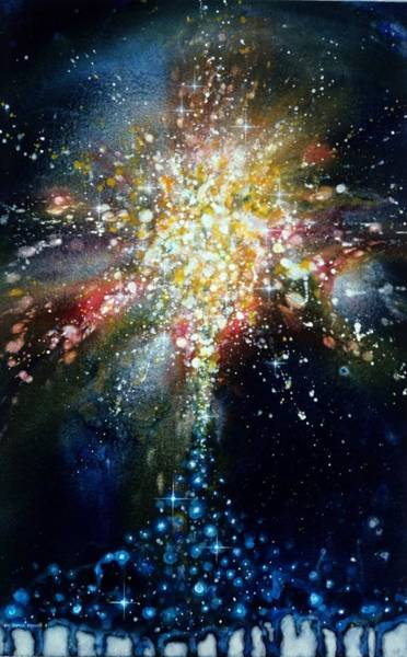 Angelic Beings Painting - Exposition Stellar Christi by Lee Pantas