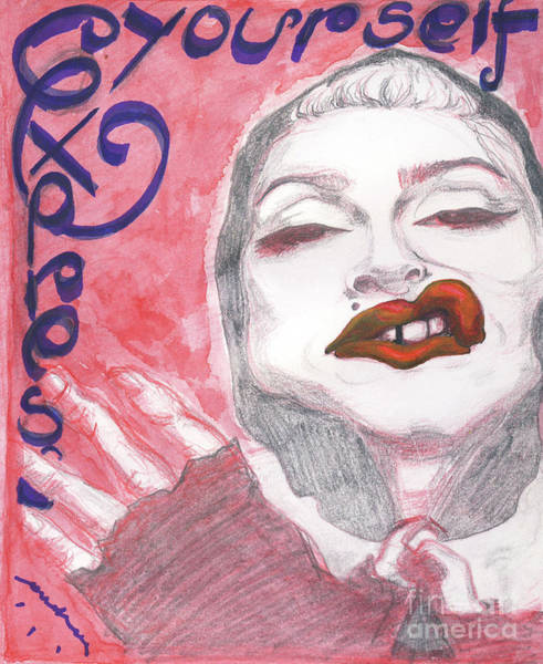Caricature Mixed Media - Express Yourself by Andreea Paraschiv