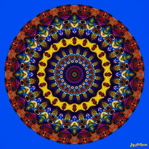 Psychedelia Digital Art - Expression No. 2 Mandala by Joy McKenzie