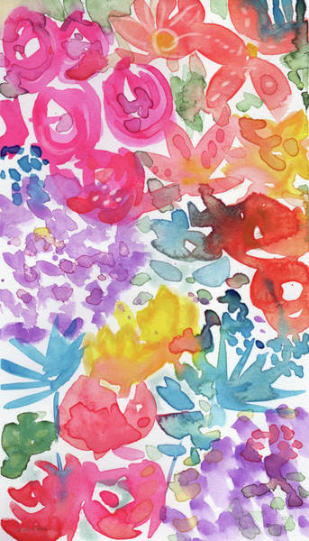 Mixed Media - Expressionist Watercolor Garden- Art By Linda Woods by Linda Woods