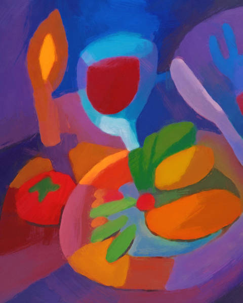 Painting - Expressive Dinner by Lutz Baar