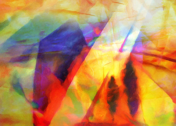 Painting - Expressive Lightscape by Lutz Baar
