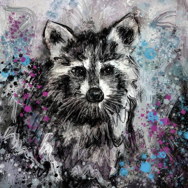 Painting - Expressive Raccoon by Jai Johnson