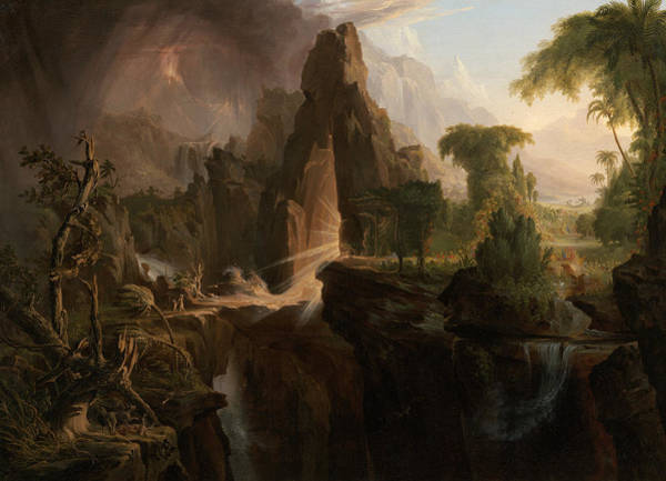 Eden Painting - Expulsion From The Garden Of Eden by Thomas Cole
