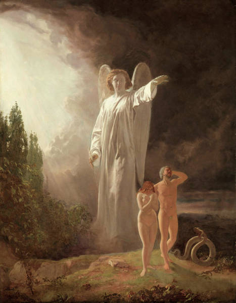 Eden Painting - Expulsion Of Adam And Eve by John Faed