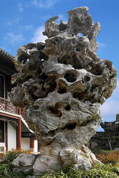Wall Art - Photograph - Exquisite Jade Rock - Yu Garden - Shanghai by Christine Till