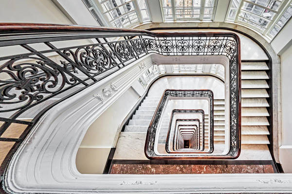 Photograph - Exquisite Staircase Nyc  by Susan Candelario