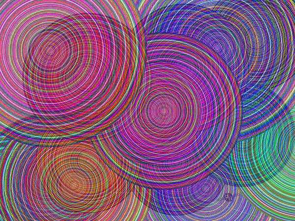 Blending Painting - Extended Family Disagreement Join In Circles Of Confusion And Misunderstanding 1 by Tony Rubino