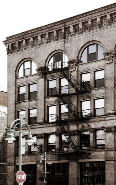 Photograph - Exterior Staircase On Old Building by Marilyn Hunt