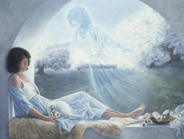Angelic Beings Painting - Exterior To One's Body by Lucie Bilodeau