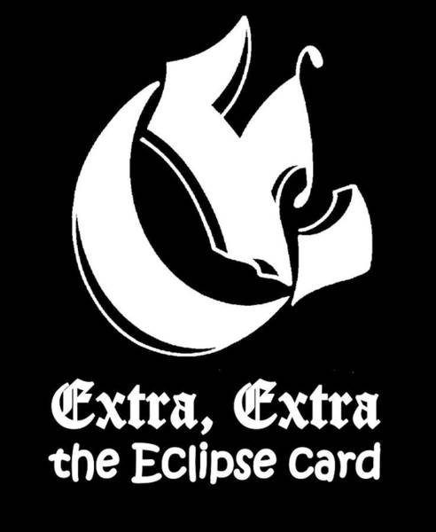 Drawing - Extra The Eclipse Card by Dawn Sperry
