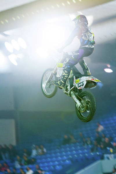 Photograph - Extreme Motorcycle Stunt Jump by SR Green