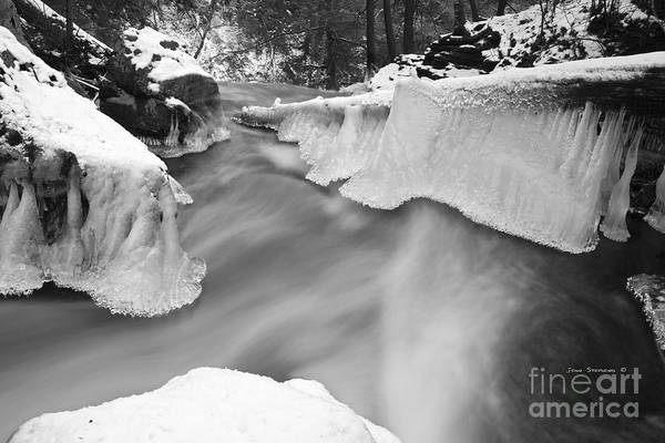Wall Art - Photograph - Extreme Terrain Atop The Falls Black And White by John Stephens