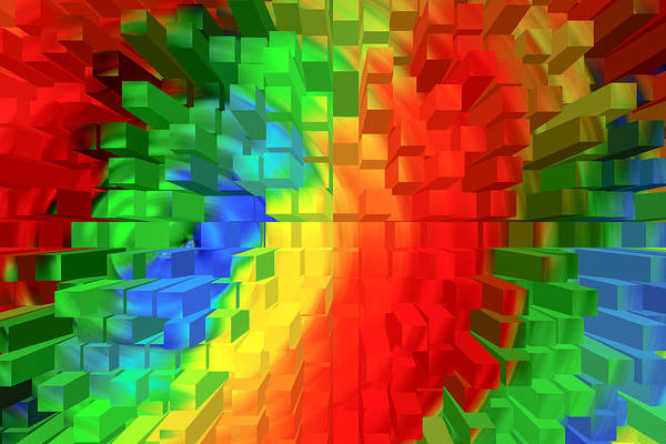 Digital Art - Extruded Spectrum by SR Green