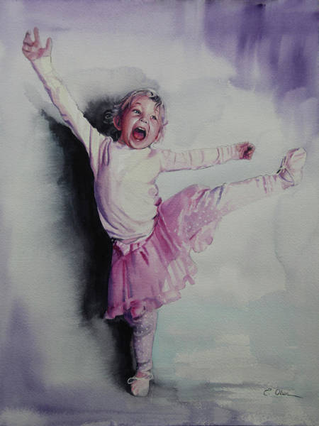 Spin Painting - Exuberance by Emily Olson