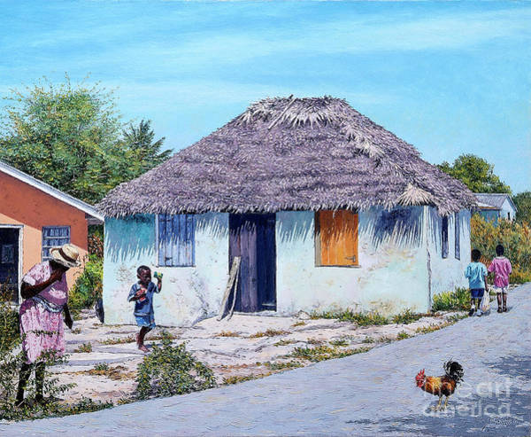 Painting - Exuma Thatch Hut by Eddie Minnis