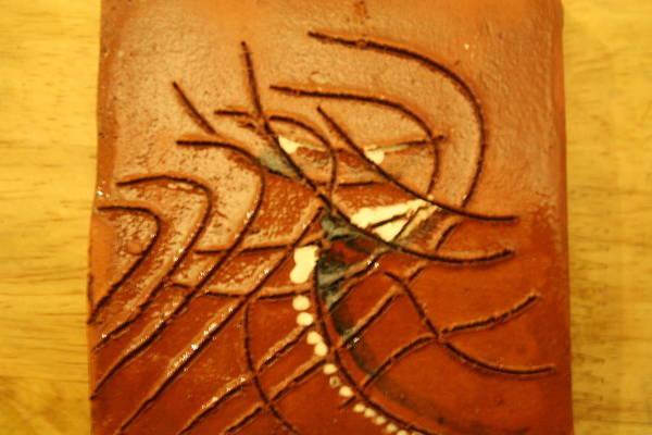 Ceramic Art - Eye - Tile by Gloria Ssali