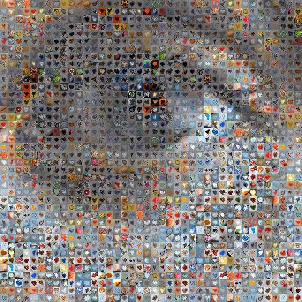 Mosaic Photograph - Eye 1  by Boy Sees Hearts
