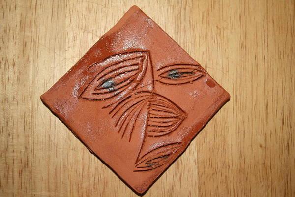 Ceramic Art - Eye Aback - Tile by Gloria Ssali
