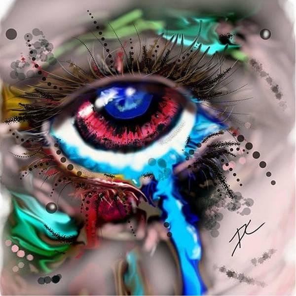 Digital Art - Eye Ball Study One by Darren Cannell