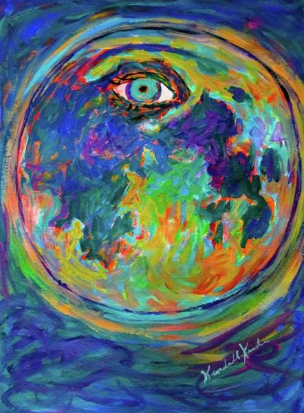 Painting - Eye Crater Stage One by Kendall Kessler