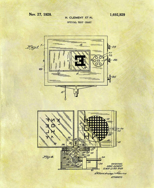 Drawing - Eye Examination Chart Patent by Dan Sproul