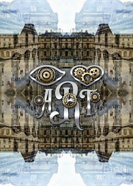 Photograph - Eye Heart Art Louvre Silver Paris Da Vinci Gears by Beverly Claire Kaiya