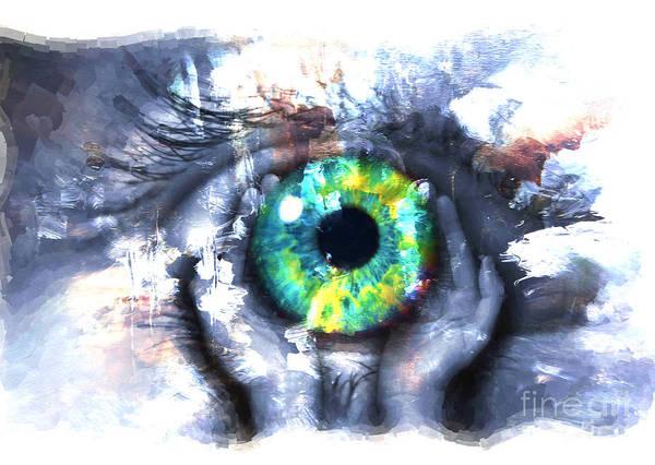 Eyeballs Painting - Eye In Hands 002 by Gull G
