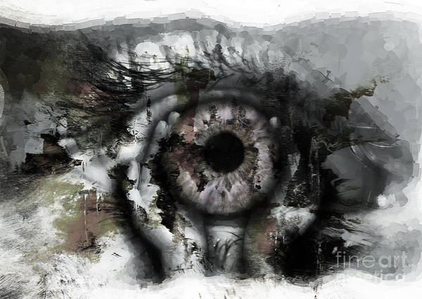 Eyeballs Painting - Eye In Hands by Gull G