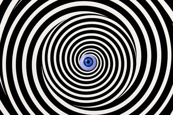 Suggestion Photograph - Eye In Spiral by Garry Gay