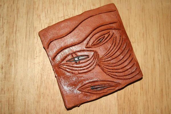 Ceramic Art - Eye In Year 10 - Tile by Gloria Ssali