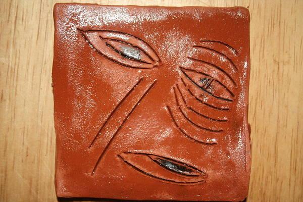 Ceramic Art - Eye In You - Tile by Gloria Ssali