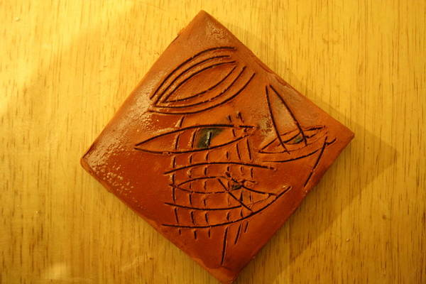 Ceramic Art - Eye Life - Tile by Gloria Ssali