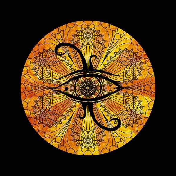 Ra Digital Art - Eye Of Egypt by Islam Hassan