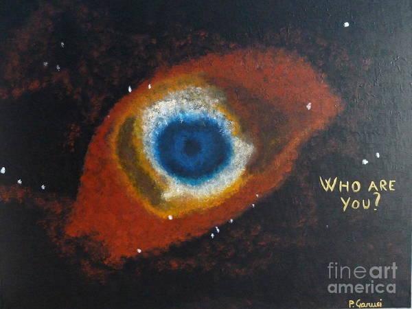 Quantum Physics Painting - Eye Of God by Piercarla Garusi
