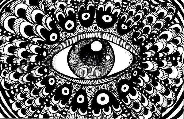 Drawing - Eye Of March by Nada Meeks