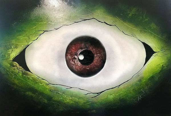 Wall Art - Painting - Eye Of The Monster by Willy Proctor