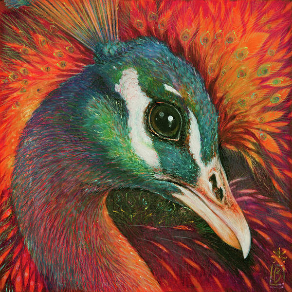 Painting - Eye Of The Peacock by Lynn Bywaters